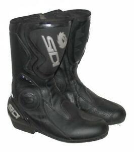 """"""" SIDI """" Herren- Motorradstiefel / Biker- Stiefel / Boots in schwarz ca. 42,5"""
