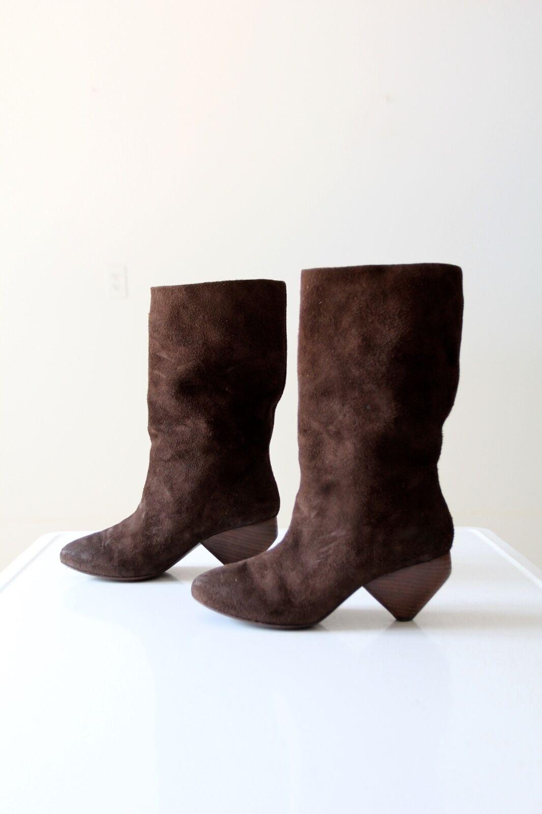 Marsell slouch Stiefel braun heel suede high heel braun Stiefel Größe 7.5 41908e