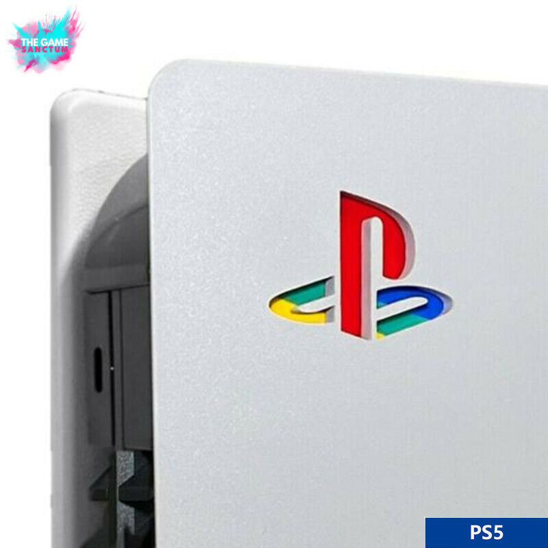 PS5 Console Logo Retro Style Vinyl Sticker Decal Skin For PlayStation 5