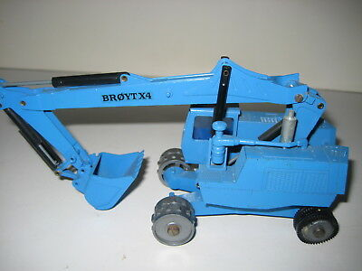 Broyt X 4 Escavatore Profondamente Cucchiaio Mobile Blu #118.1 Nzg 1:50 Rarità-mostra Il Titolo Originale