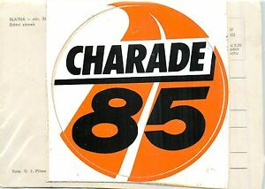 CHARADE-85-circuit-de-charade-AUTOCOLLANT-STICKER-vintage