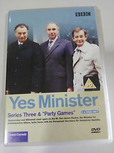 YES-MINISTER-SERIES-THREE-amp-PARTY-GAMES-2-X-DVD-ENGLISH-BBC-AM