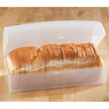 Slice & Hard Dough Bread Keeper Kitchen Durable See Through Storage Loaf Box New