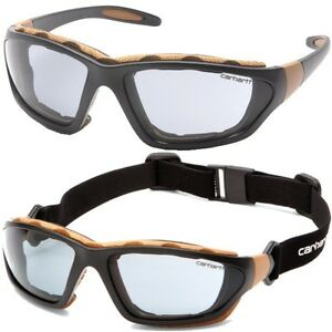 0a2b0a6a9c2 Image is loading Carhartt-Safety-Glasses-Carthage-Gray-Anti-Fog-Lens-