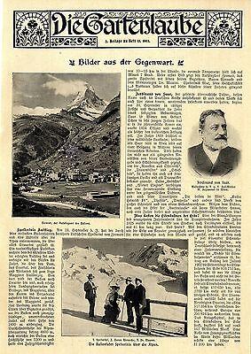 Brave Spelterinis Erstüberquerung Der Alpen Im Ballon Original-bild-report Von 1903