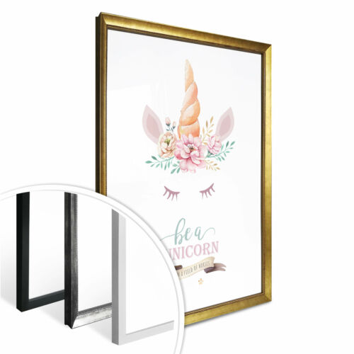 Einhorn mit Wimpern Be a unicorn in a field of horses Poster Kvilis