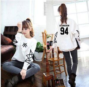 Monsta X Minhyuk Im Kihyun Wonho Shownu Jooheon White Pullover Sweater Kpop New Ebay