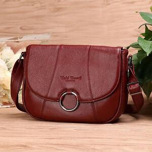 Image is loading Women-Genuine-Leather-Shoulder-Flap-Bag-Ladies-Crossbody- ffba454d218d3