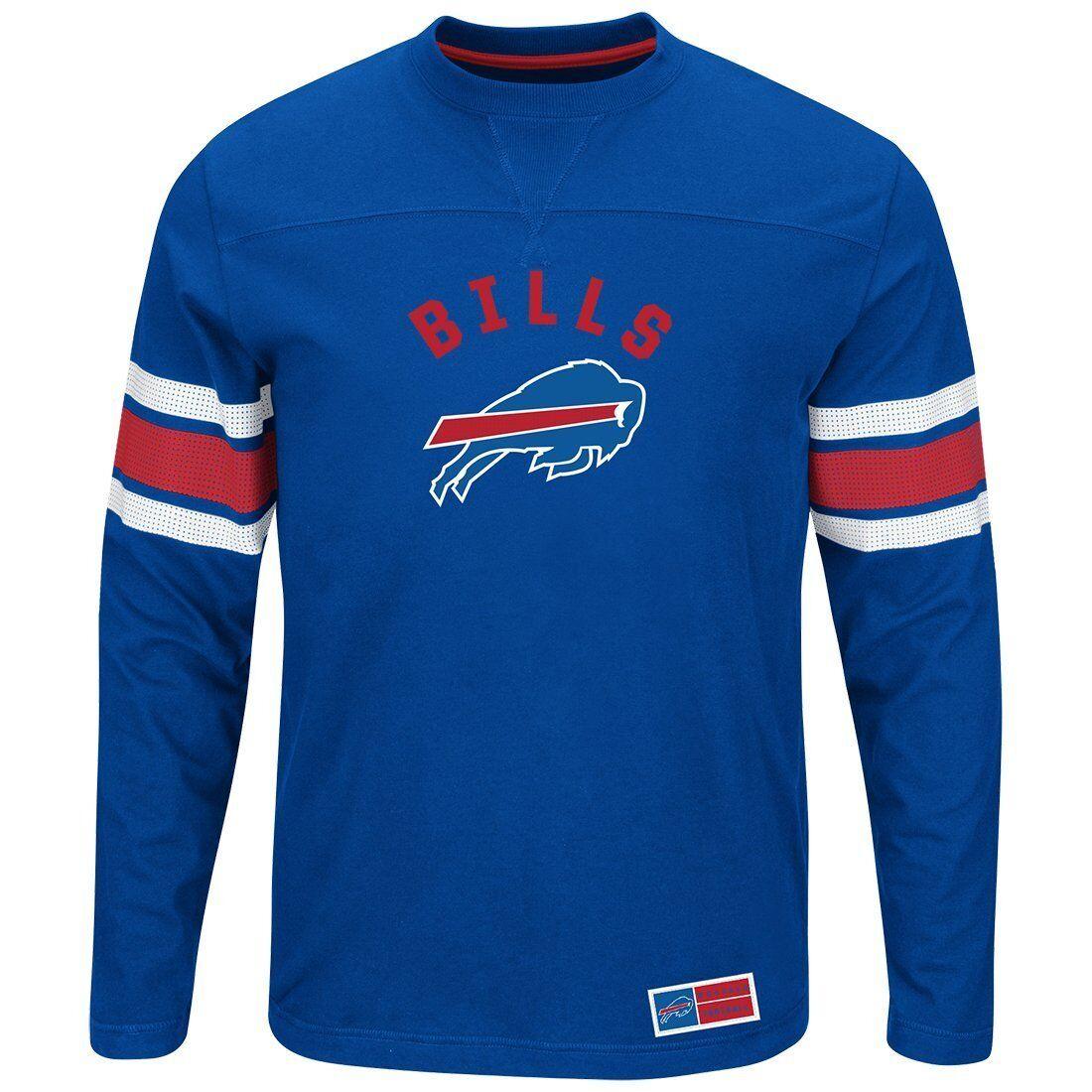 NFL FOOTBALL manica lunga Top Buffalo Bills Long Sleeve Power HIT sexi