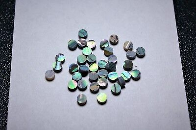 2.5 mm x 1.55 mm 1 inlay set of 24 pcs inlay material green abalone dots