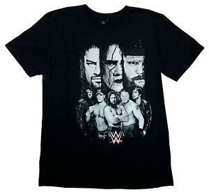 WWE-Licensed-Adult-Black-T-Shirt-John-Cena-Under-Taker-Roman-Reigns-Brock-M