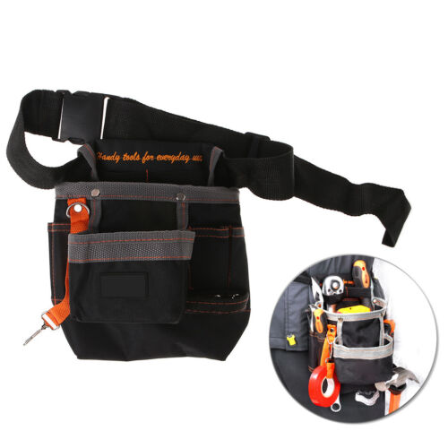 8 Pockets Electrician Tools Belt Pouch with Adjustable Belt Maintenance Tool Bag