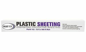 VALUETECK-12-039-x-400-039-Plastic-Sheeting-Autobody-Overspray-Masking-Protection