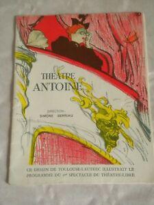 Vintage Programme Theatre Antoine Le Petit Café 1950s Paris Playbills Antiques