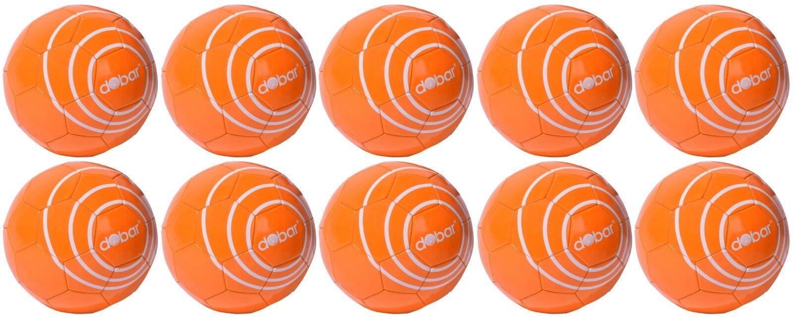 10 x Fußball Set Set Set Größe 5 Orange 440gr, Ball Fußbälle Spiel Sport Training Kinder a6b1ff
