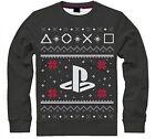 Sony PlayStation Men's Logo Christmas Jumper Medium Grey Sw501235sny-m