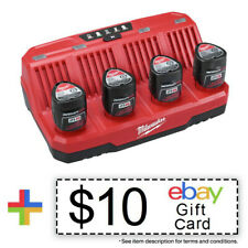 Milwaukee 48-59-1204 M12 Four Bay Sequential  Charger New + $10 eBay Gift Card