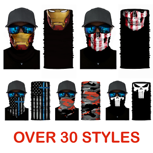 Face Mask Neck Gaiter Seamless Face Shield Multi functional Protection Head Band