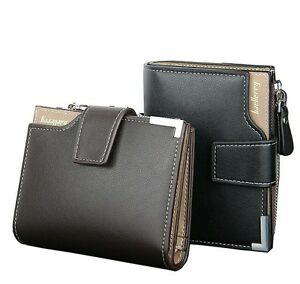 New Baellerry Stylish Leather bi-fold Zipper Wallet Credit Card Holder for Men