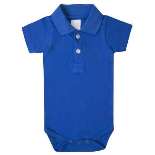 Baby Polo Bodysuit Short Sleeved Vest Royal Blue