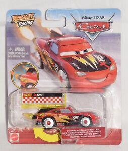 DISNEY Pixar CARS Rocket Racing XRS Lightning McQueen With Blast Wall