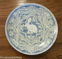 Pottery Barn Graphic Bunny Salad Dessert Plate - Blue - Easter Spring