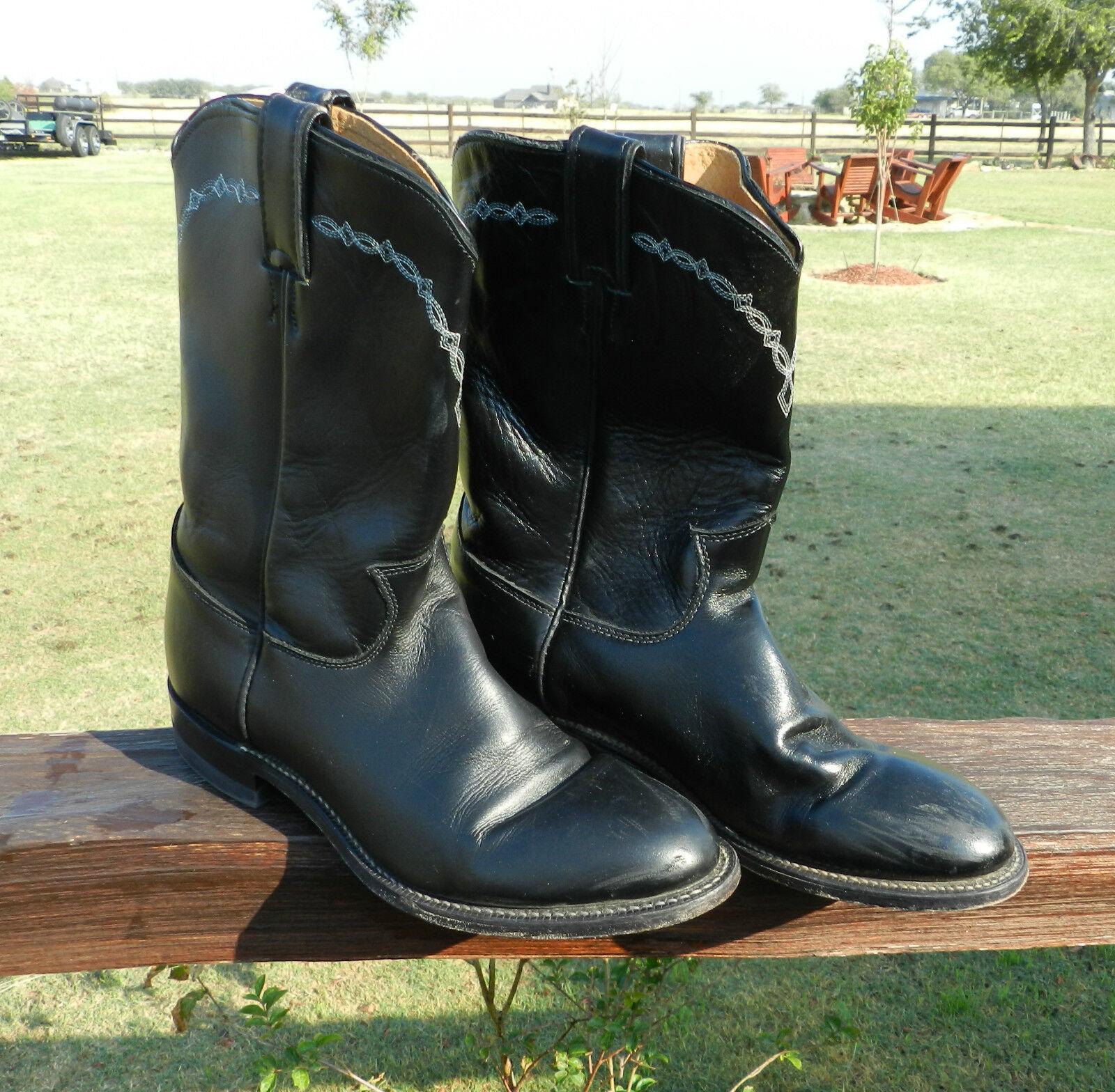8249  Mens JUSTIN ROPER Western Boots  Men Size 8 D  Cowboy Rodeo Boot