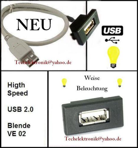 Instalación usb hembra interfaz iluminación 50cm adecuado para tele barra de radio