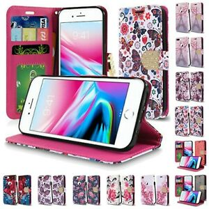 For-Apple-iPhone-8-Plus-Design-Wallet-Credit-Card-Flip-Case