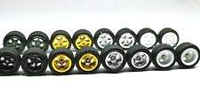 Hot Wheels 5 Spoke Rubber Tire  - 4  sets JDM (4 colors MIX) for JDM 1:64
