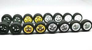 Hot-Wheels-5-Spoke-Rubber-Tire-4-sets-JDM-4-colors-MIX-Limited-Stock