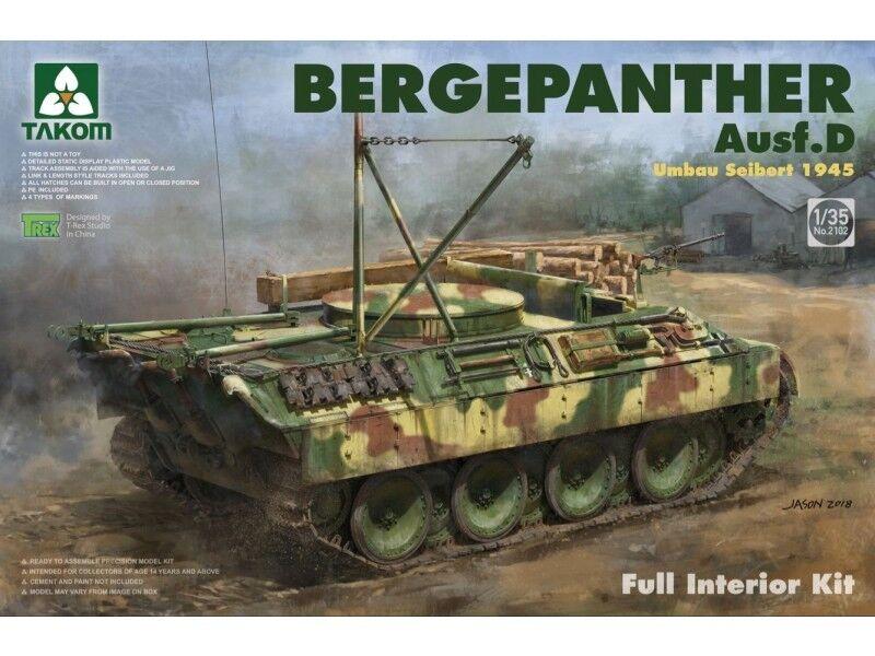 últimos estilos Takom 1 35 Bergepanther Bergepanther Bergepanther Ausf. D Umbau Seibert 1945 Completo Kit Interni  02102  buscando agente de ventas