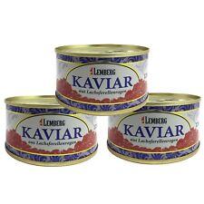 3x 120g (1kg/48,61€) Forellenkaviar Lachsforelle Forelle Kaviar Dose Aquakultur