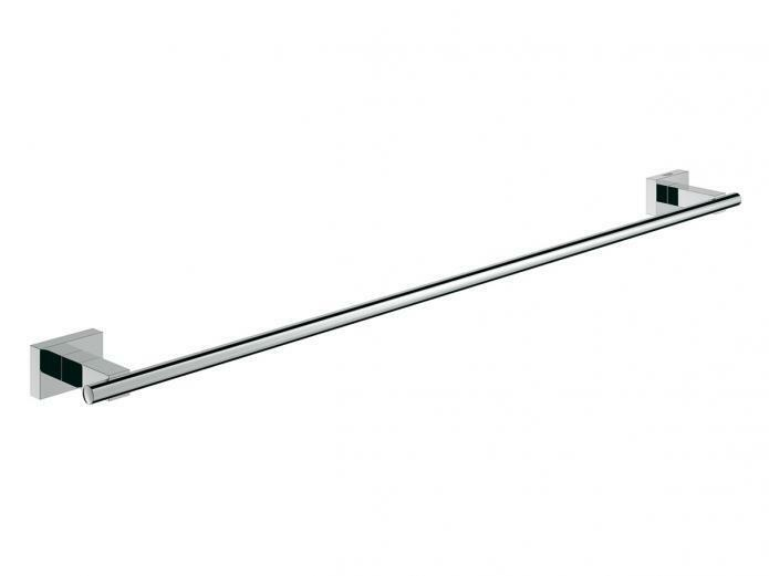 Grohe ESSENTIALS CUBE SINGLE TOWEL HOLDER 600mm Wall Mounted CHROMEGerman Brand