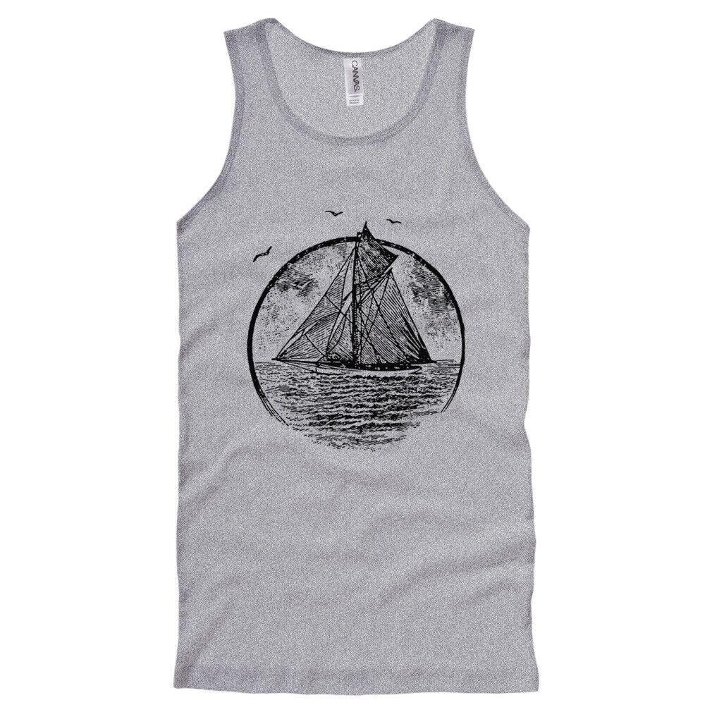 Beautiful Sailing Sea Boat Ship  Men/'s T-Shirt//Tank Top z582m
