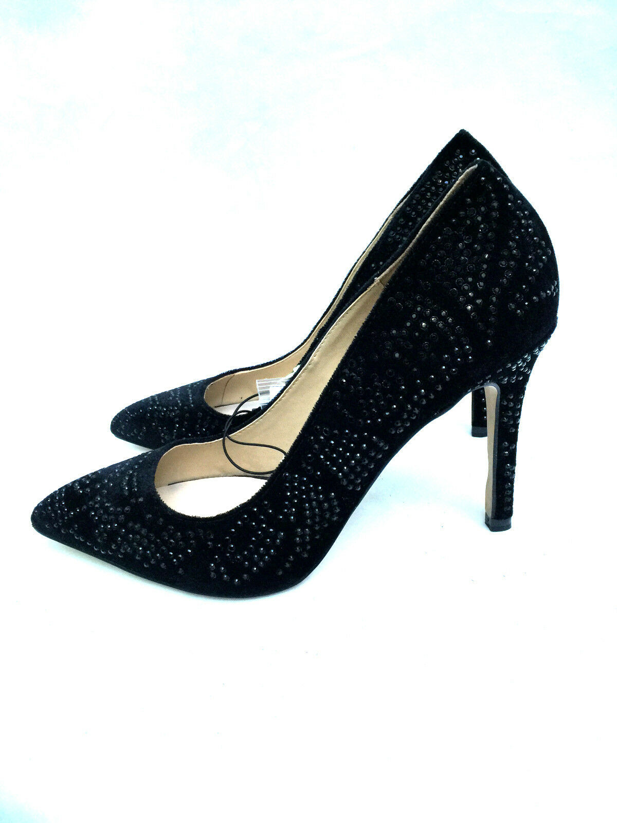 ZARA BLACK STUDDED DIAMANTE HIGH HIGH HIGH HEEL COURT Schuhe SIZE UK7/EUR40/US9 21686d