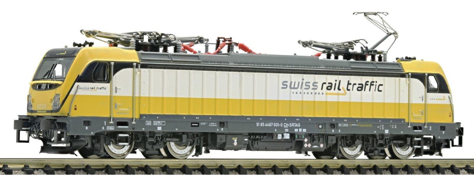 Fleischmann 738972 Spur N E-Lok 487 traxx3 Swiss Rail Traffic ep6 GIALLO-BIANCO carico