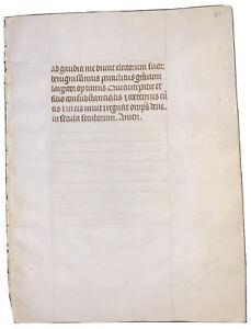 MEDIEVAL-MANUSCRIPT-LEAF-ON-VELLUM-15th-CENTURY-c-1400-1499-CATHOLIC-BREVIARY