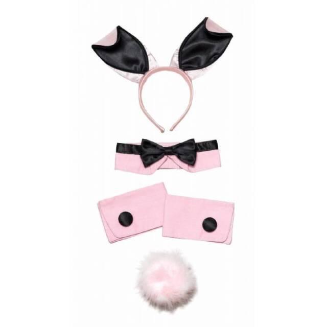 Adult Ladies Pink Bunny Girl Set Playgirl Hen Night Bunnygirl Fancy Dress