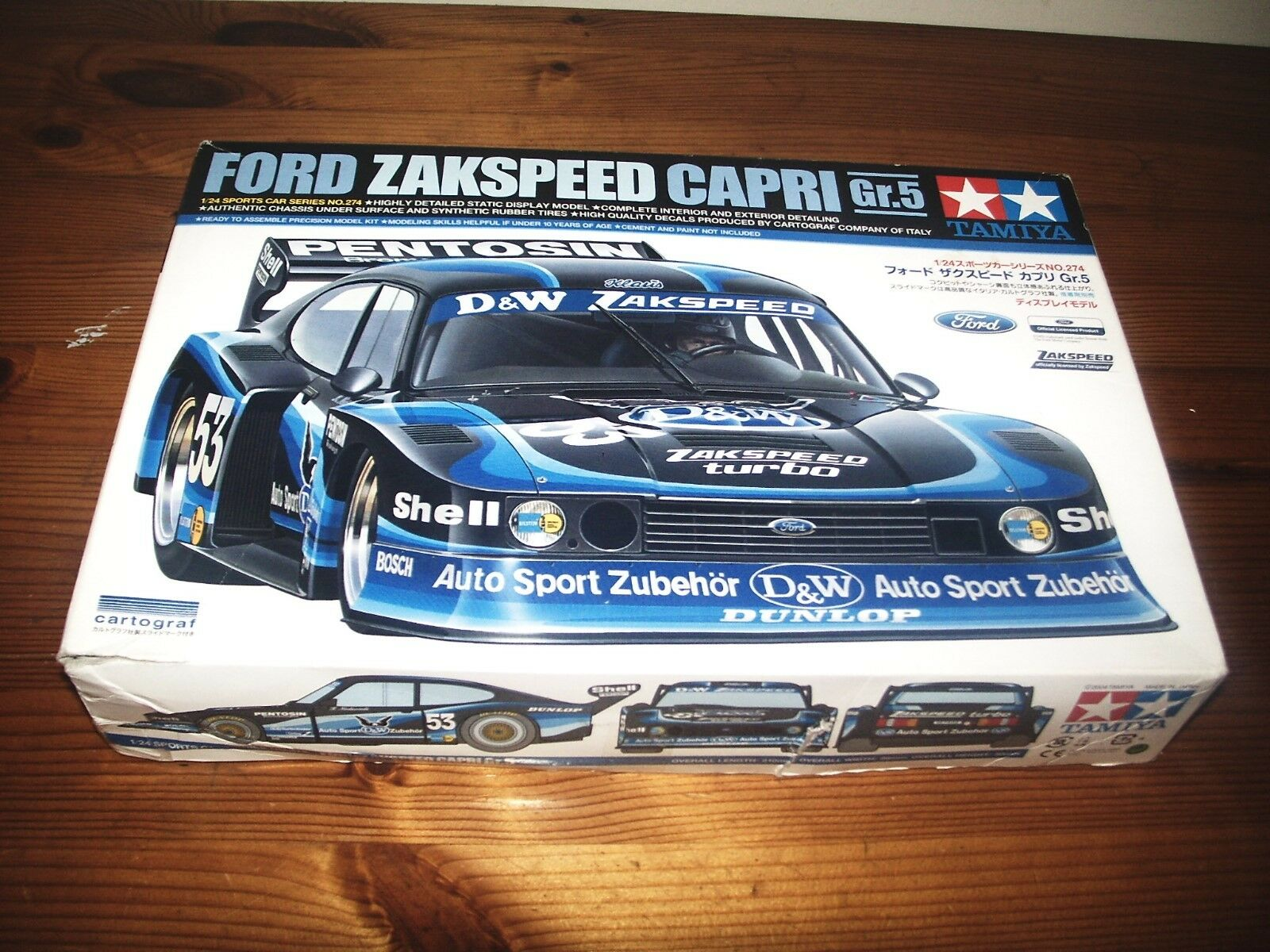 TAMIYA 1 24 FORD ZAKSPEED CAPRI GR.5  MODEL KIT - SPORTS CAR SERIES 24274