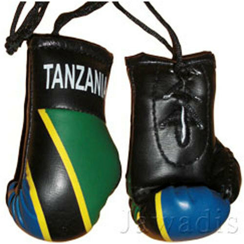 murse decor football show Mini boxing gloves of country flags club flags