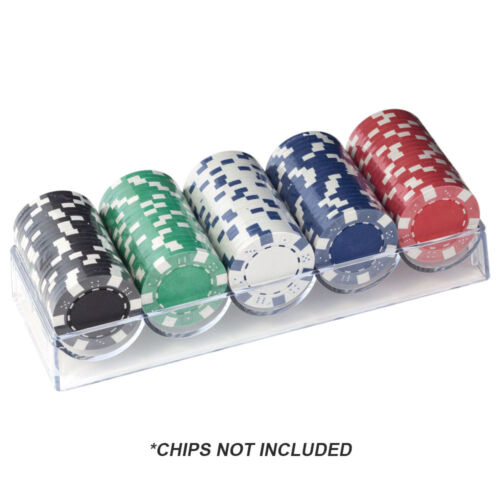 Holds 100 Chips 10-Pack of Casino Clear Acrylic Chip TraysPoker Chip Racks