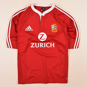 Adidas-Trikot-Jersey-Gr-XL-British-Irish-Lions-Rugby-New-Zealand-2005-Rot-71650