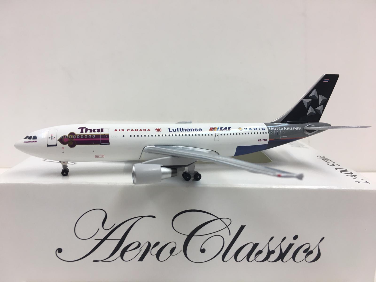 Aeroclassics Thai Airways Star Alliance Airbus A300 1 400 400 400 cabeza scultp-Tao e9a3fa