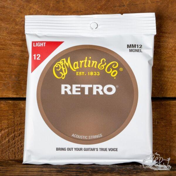 martin mm12 retro monel acoustic guitar strings light 12 54 for sale online ebay. Black Bedroom Furniture Sets. Home Design Ideas