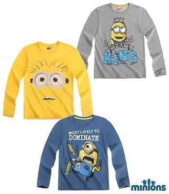 Minions T-shirt Shirt Pulli Langarmshirt Sommerset Pyjama Sweetjacke Unterwäsche Sparen Sie 50-70%