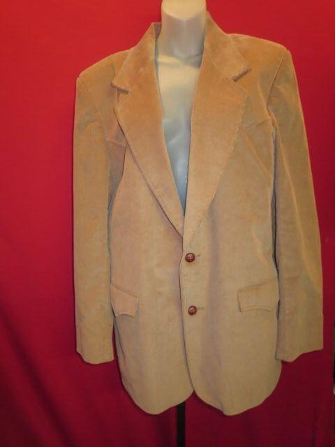 PIONEER WEAR Vintage Corduroy Leather Patches Western Cowboy Prairie Jacket Sz L