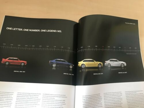 BMW M3 COUPE SALOON CONVERTIBLE SALES BROCHURE BRAND NEW