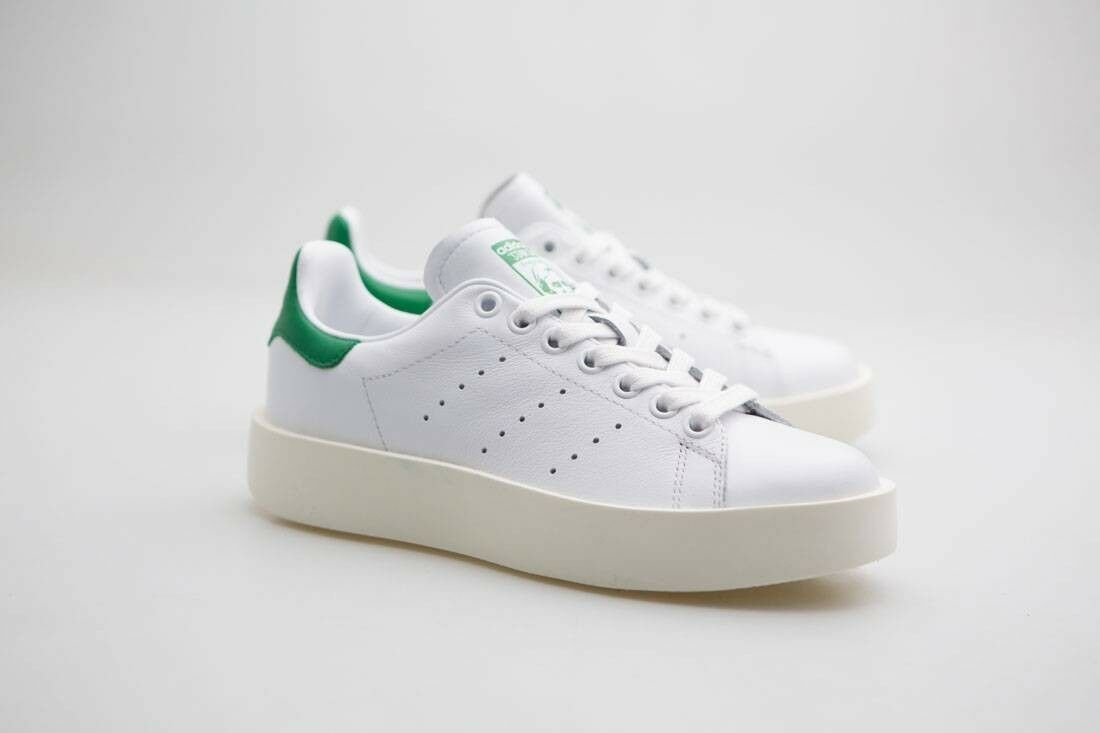 Adidas Donna Stan Smith Bold white footwear white green S32266