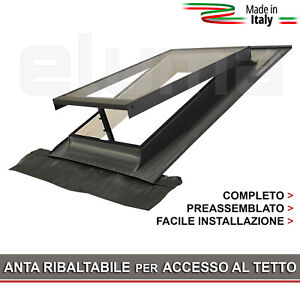 Lucernario Finestra Per Tetto Basic Vasistas 48x72 Apertura